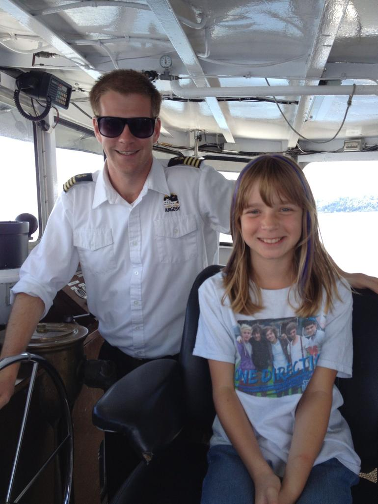 Cptn Nick and first mate Mackenzie - Seattle
