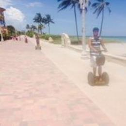 Photo of Fort Lauderdale Hollywood Beach Segway Tour Crusing on beach on segways