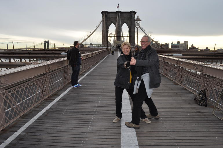 Dancing on Brooklyn Bridge - New York City