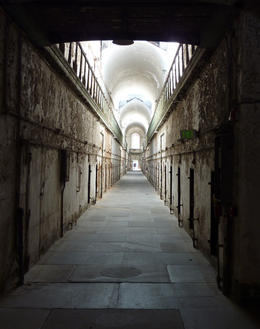 Looking down one of the abandoned cell blocks at Eastern State Penitentiary, in Philadelphia. , kolivari - March 2011
