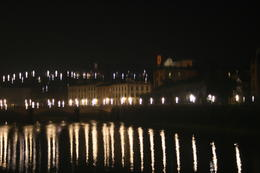 Photo of Florence Pisa and the Leaning Tower Half-Day Trip from Florence Bridge and River at Night