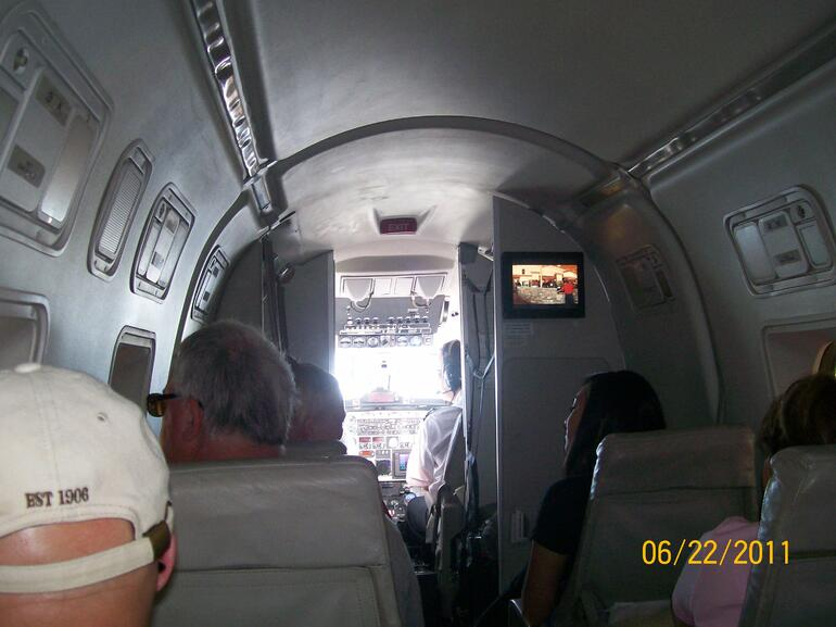 Inside the plane - Las Vegas