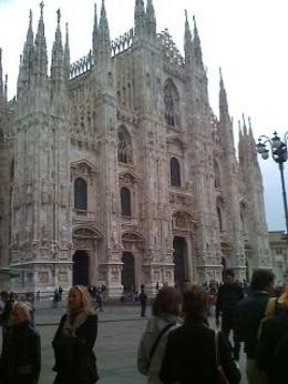 Outside the Cathedral, Milan, Alison O - October 2009