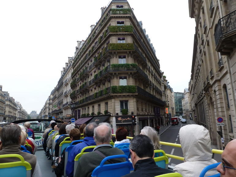 On the top deck of L'bus - Paris