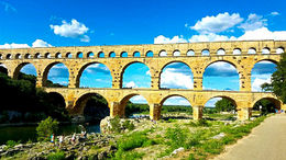 Pont du Gard bridge , GLORY N - September 2015