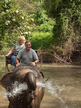 Photo of Bangkok Khao Yai National Park and Elephant Ride Day Trip from Bangkok Shower anyone?