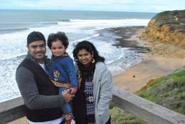 ME (PRASAD), My Daughter (HANNAH ANGELICA), my wife (DIVYA), PRASAD B - October 2010