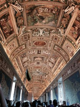 This long corridor displaying maps was phenomenal. Amazing ceiling! , Jonathan G - April 2015