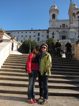 My grand daughter and I at the foot of the Spanish Steps. , MS shepherd - January 2012