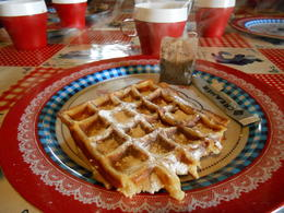 Mouthwatering waffles made at the Windmill , Wendy - March 2013