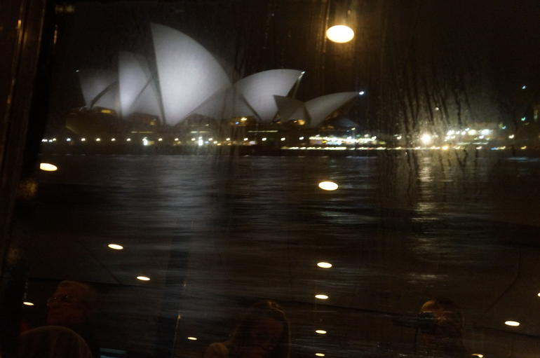 View from the boat window - Sydney