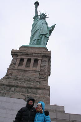 Photo of   A cold day at the statue of liberty.
