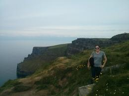 Me loving the Cliffs of Moher., kellythepea - July 2014