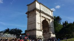 Adjacent to the Colosseum you can see the Arch of Constantine. , Susan F - May 2015