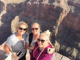 My sister and niece with me at the grand canyon west rim, incredible , Vikki J - January 2015