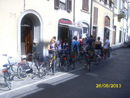 After all that peddling a well earned stop at the gelato shop. , Tracy P - September 2013