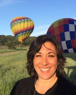 Photo of   Just after landing from my first Napa Valley Balloon ride