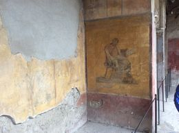 Mosaic inside one of the houses in Pompeii , LJ C - May 2015