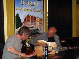 Our two musicians for the evening, playing us some Irish tunes..... , Alison F - April 2012