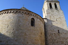 Photo of Barcelona Small-Group Medieval Villages Day Trip from Barcelona Outside Monastery in Besalu