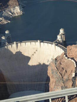 Hoover Dam view from the helicopter , Bev R - April 2012