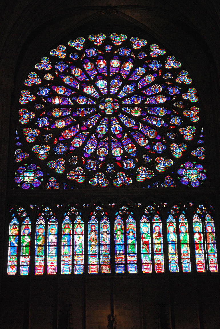 Stained Glass windows of Notre Dame - Paris