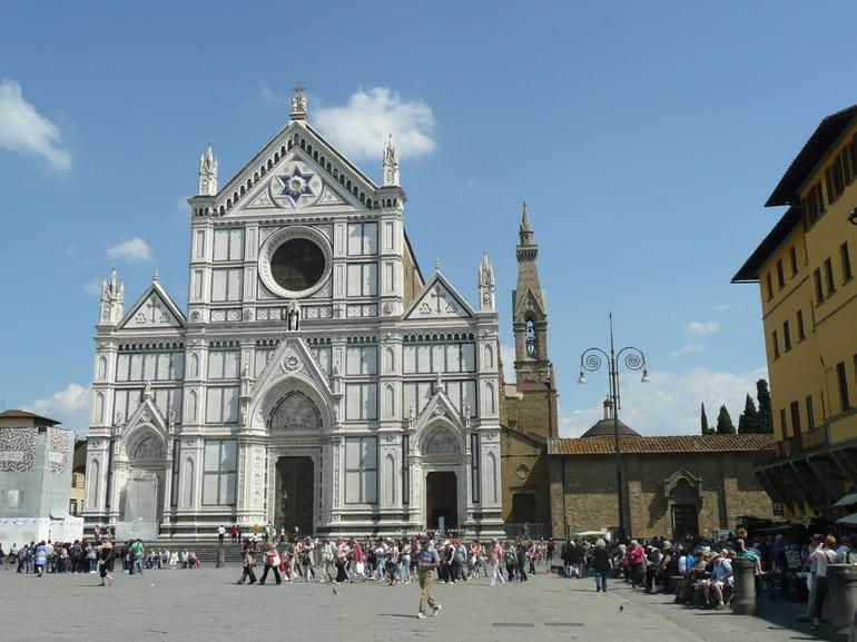 The Glorious Facade of the Basilica of Santa Croce - Florence
