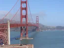The weather was kind to us on arrival at the iconic Golden Gate Bridge. , Jeremy B - September 2012