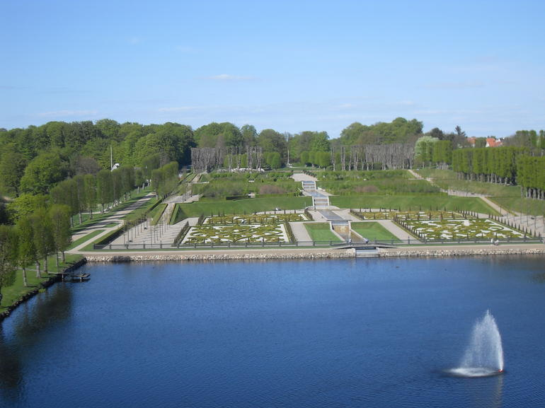View of the gardens of Frederiksborg Slot - Copenhagen