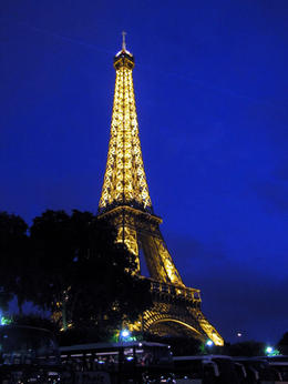 Eiffel Tower just after sunset , Ellen W - September 2013