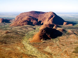 View of Kata Tjuta from the helicopter , Louise A - March 2015