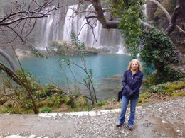 Photo of me at the Manavgat waterfall. Incredibly beautiful ( the falls, not me!!) even in rain. , Susan W - February 2015