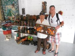 Mayan woodworker with our peice , STEFANIE S - December 2011