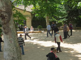 The locals enjoying a game of petanque in idyllic surroundings , Colleen H - June 2013