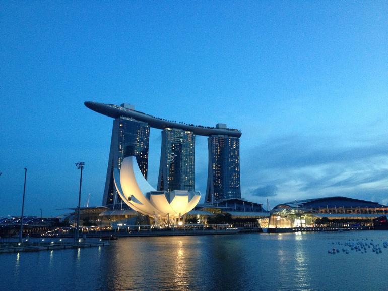 The beautiful Marina Bay