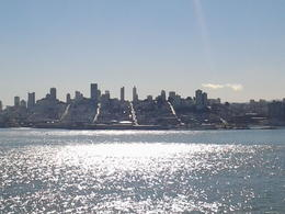 This photo was taken from Alcatraz Island over looking the streets of San Fransisco, you can quite clearly see the main long streets running down to the bay, a truly magnificent ... , russell k - February 2014