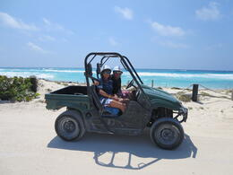 Photo of Cozumel Cozumel Shore Excursion: 4x4 Rhino and Snorkel Adventure Tour Us on the rhino