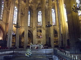 Great stop see the cathedral easier to get into than Sagrada and nice area to walk around , Marcia F - June 2016