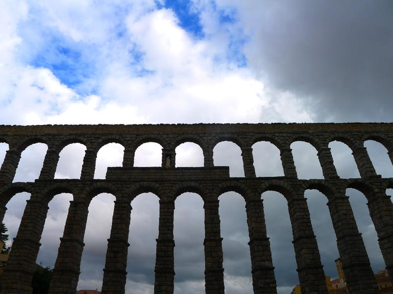 Aqueduct in the city of Segovia - Madrid