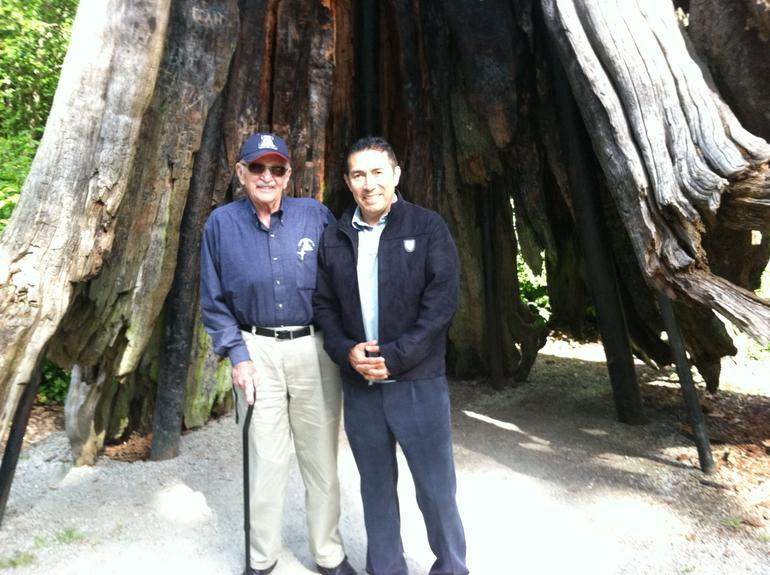 At the big tree - Vancouver