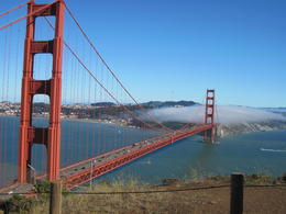 Photo of San Francisco San Francisco Super Saver: Muir Woods and Wine Country Tour Bonus stop view of Golden Gate Bridge