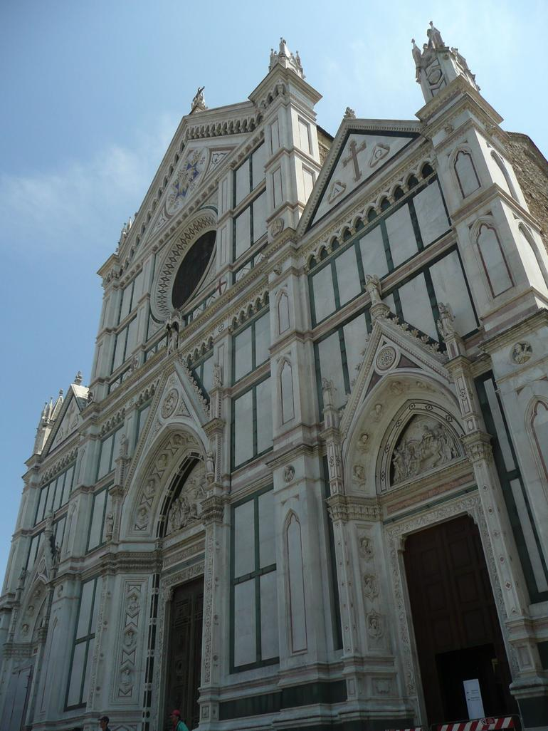 Close-Up of the Basilica of Santa Croce - Florence