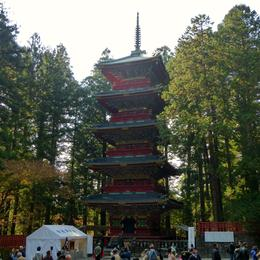 Lovely pagoda, 36m high, located on the left of Ishidori , Panda - November 2013