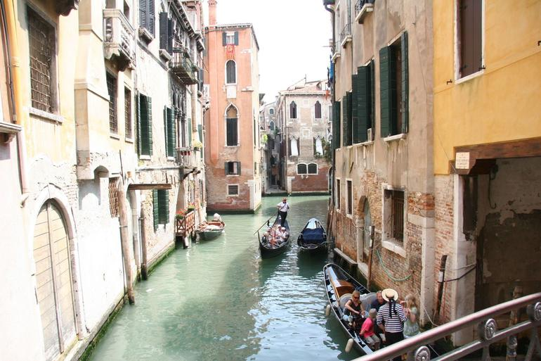 Gondola in the canal - Venice