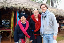 The woman in the Yao tribe let me try on their traditional dress! , Laura S - January 2014
