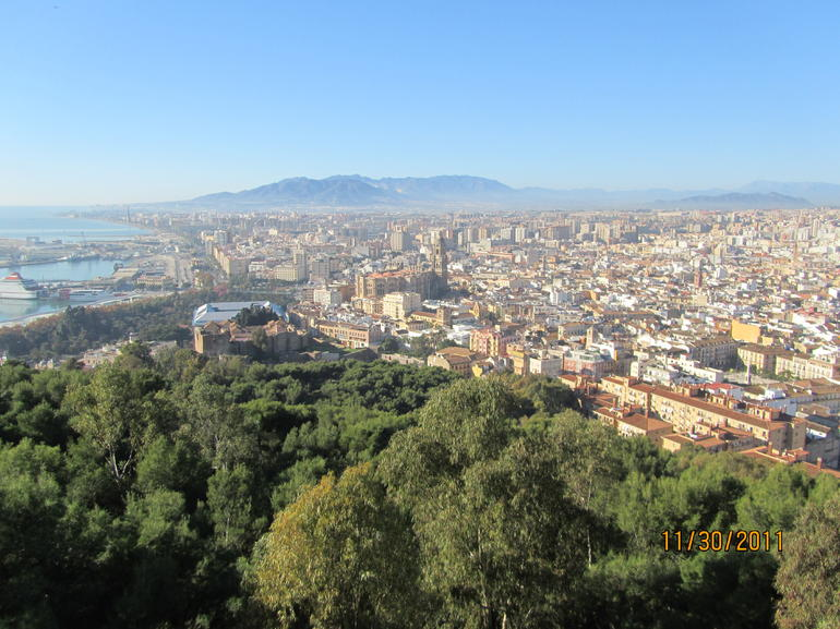 View of Malaga from Castillo de Gibralfaro.