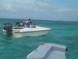 Photo of   Speedboat ride over clear waters in Punta Cana