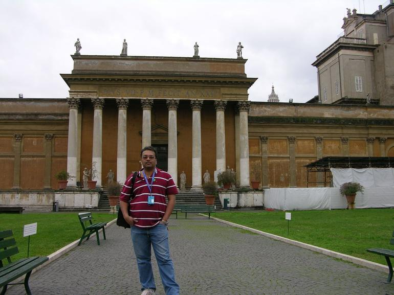 Ravi at the Vatican Museum - Rome