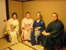 Photo of Kyoto Japanese Tea Ceremony with a Tea Master Tea master  and  friends