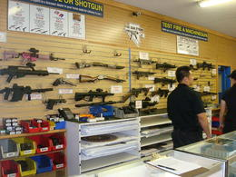 Photo of Las Vegas Viator Exclusive: Las Vegas Gun Store and Firing Range Package The wall of guns!